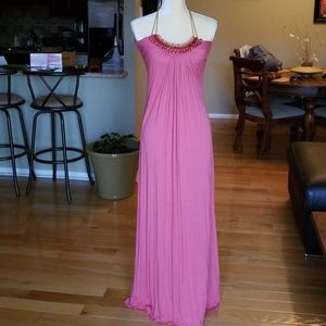 Beautiful Embellished Coral Sky Maxi M